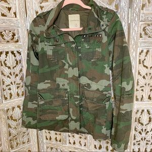 SOUND & MATTER ARMY GREEN CAMO MILITARY JACKET